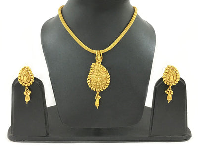 Chandrika Go Round - Rope Necklace And Earrings Set