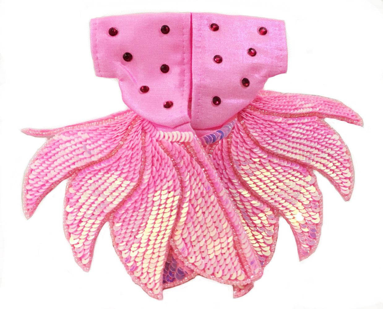 "Laddu Gopal Outfit-Pink Sequin Lotus-Cotton- 4"" Inch"