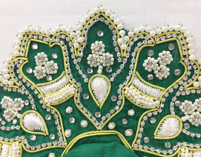 "Laddu Gopal Outfit - Royal Green Pearl - 4"" Inch"