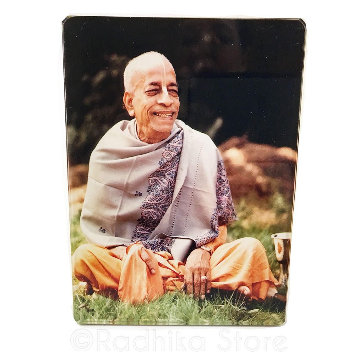 Srila Prabhupada Chanting Japa With Smile Acrylic Picture- Choose size