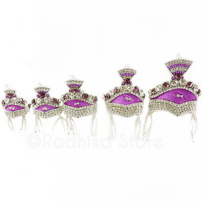 Princely Purple-Crown Set