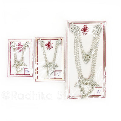 Pure White Prema - Deity Crown And Necklace Set