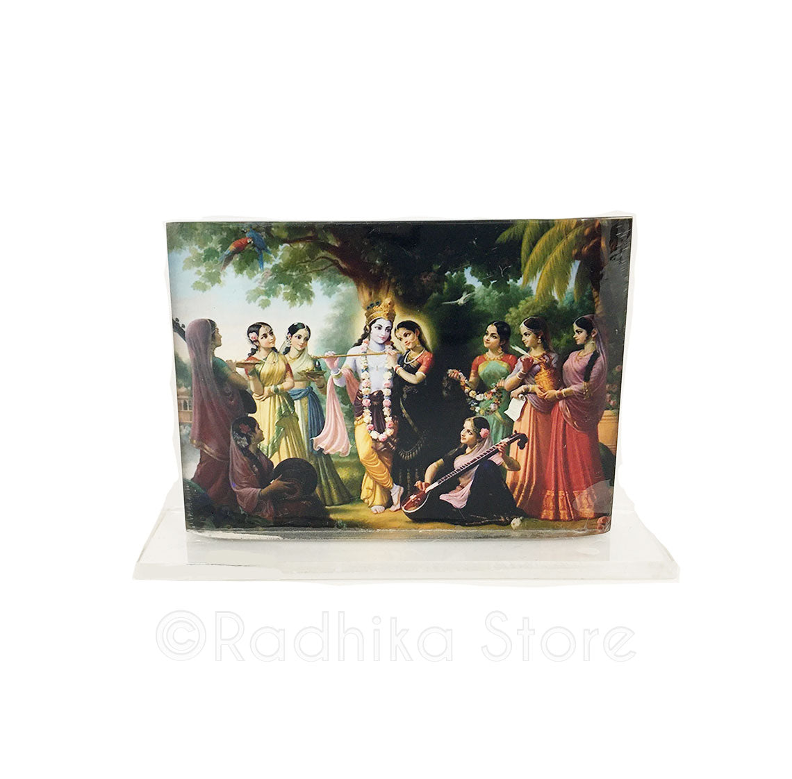 Radha Krishna And The Gopis Acrylic Picture-