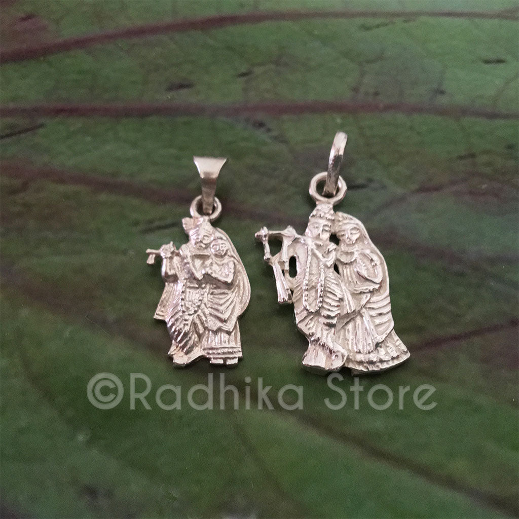 All Attractive Couple - RADHA KRISHNA SILVER PENDANT