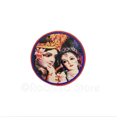 Sweet Radha Krishna Acrylic Button