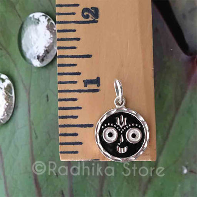 Black and Silver Lord Jagannath Pendant -2 Styles