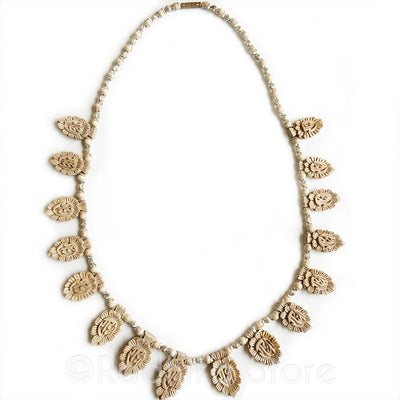 Silver - 16 Radha Lotus Pendant - Tulsi Necklace