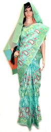 Sea Green Chandrika Design - Cotton Silk Saree