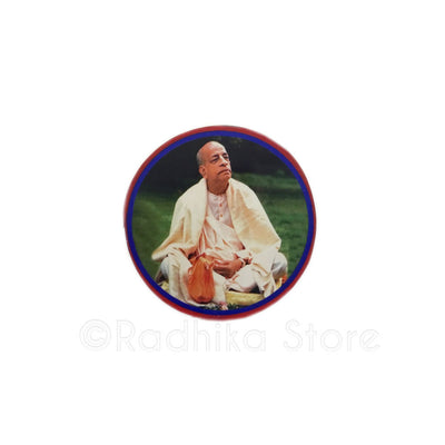 Srila Prabhupada Chanting In The Park Acrylic Button
