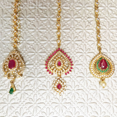 Rhinestone Tikas - Red and Green