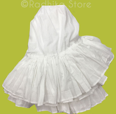 White Cotton Twirling Petticoat/ Slip - S, M, L (8 Meters Fabric)