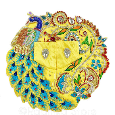 "Peacock Go-Round- Laddu Gopal Outfit   1"" To  5"" Inch sizes"