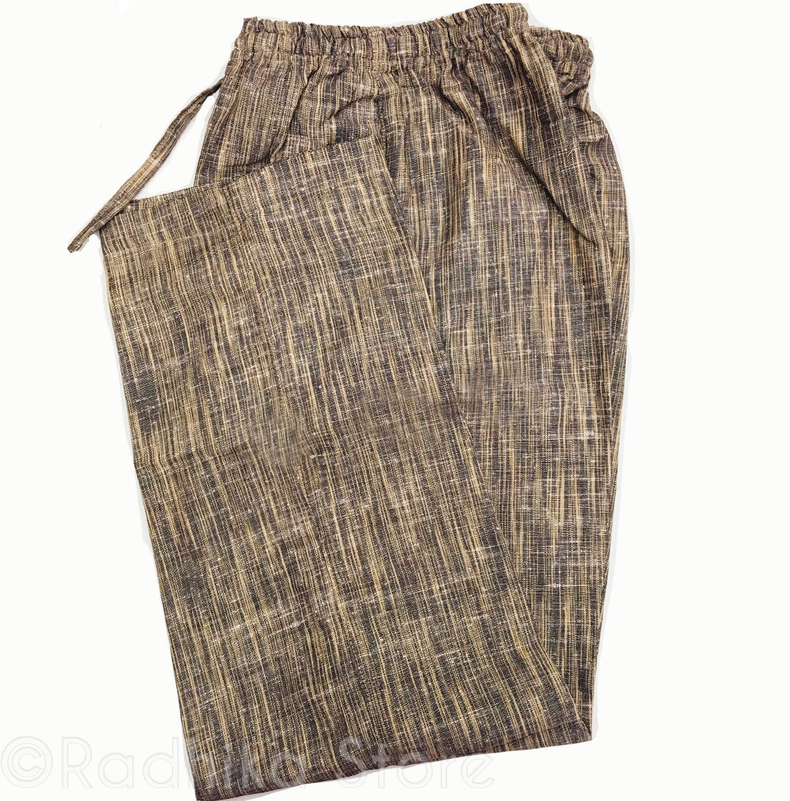Jute Yogi Pants  -Black And Beige Tweed - Small and Large