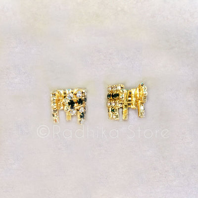 Four Color Choices Rhinestone Armlets - Set of 2