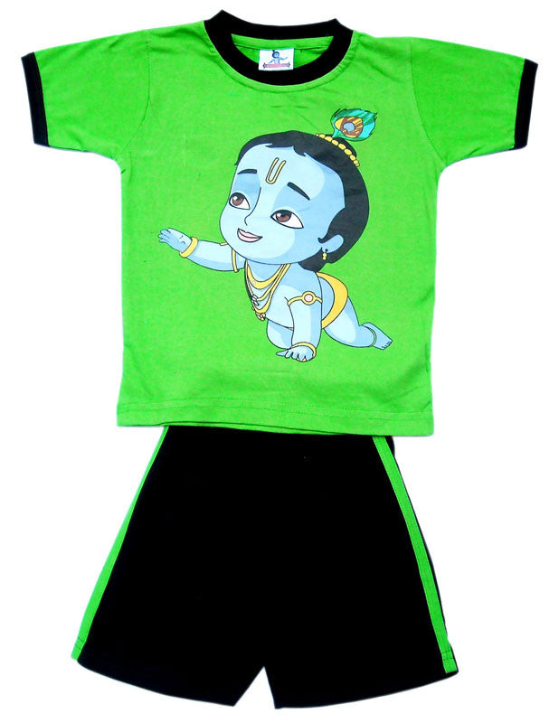 Crawling Krishna Set, Green/Black