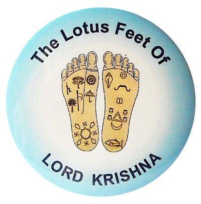 Lord Krishna Lotus Feet Button