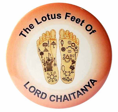 Lord Chaitanya Lotus Feet Button