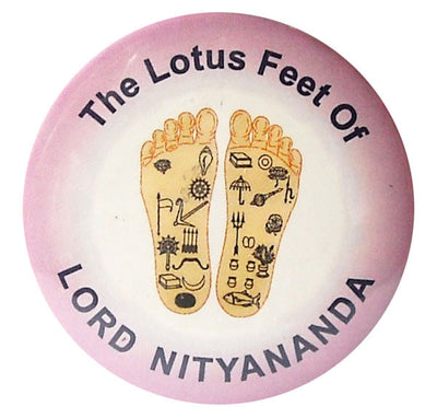 Lord Nityananda Lotus Feet Button