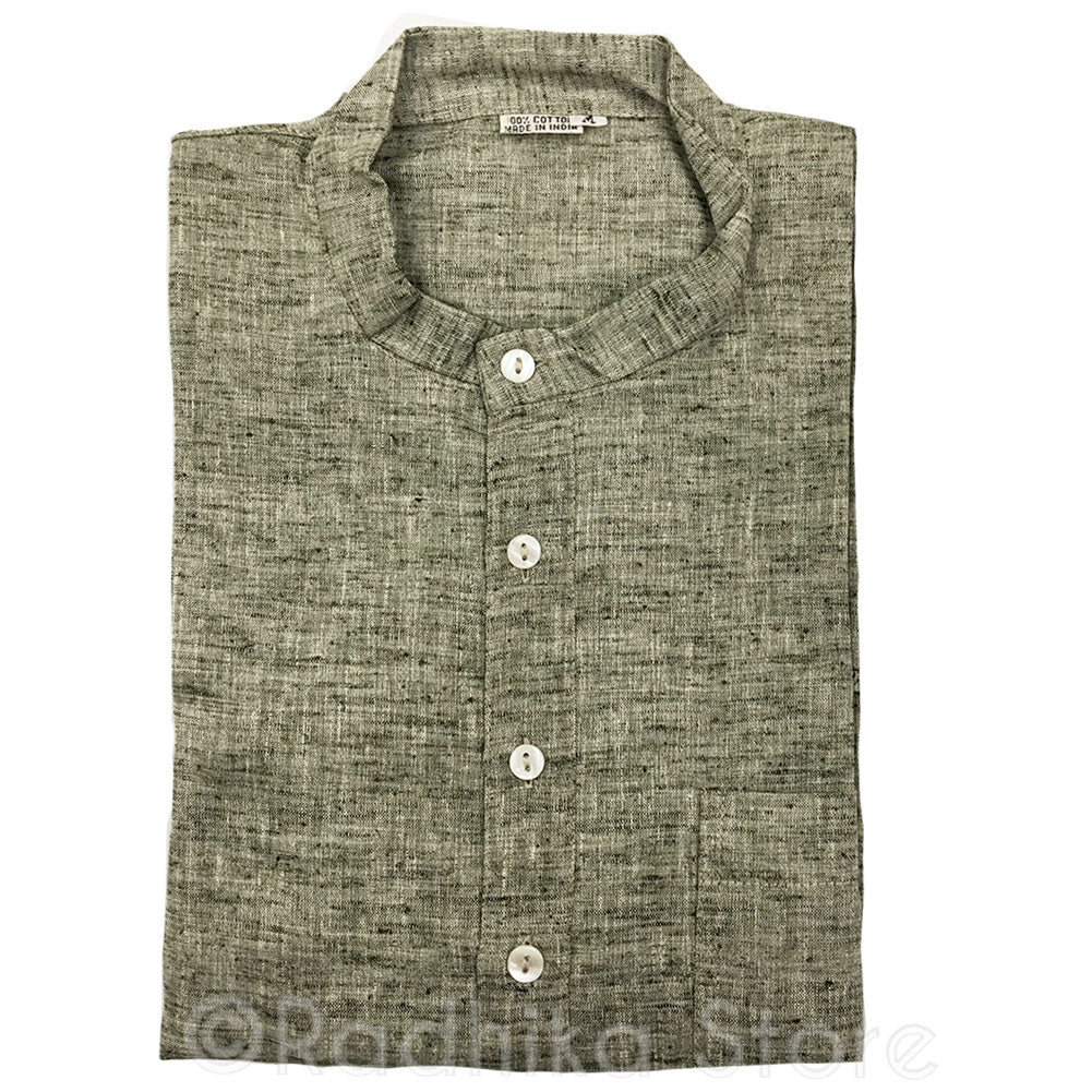 Olive Green Tweed Jute Kurtas - S,m,l,xl,