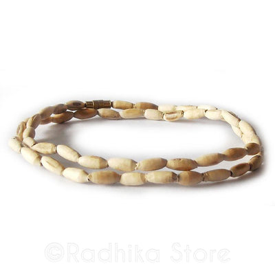Oval Shape Tulsi Neck Beads - Choose Size