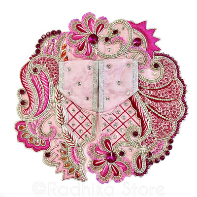 "Pretty in Pink- Laddu Gopal Outfit   1"" To  4"" Inch sizes"