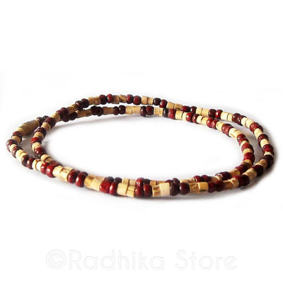 Tulsi With Round Rosewood Neck Beads