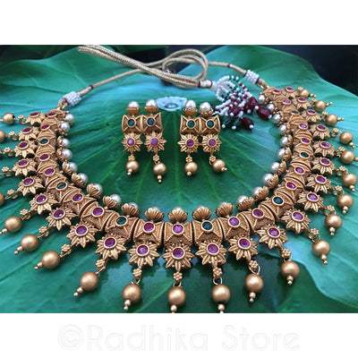 Royal Sun - Earring Necklace Set
