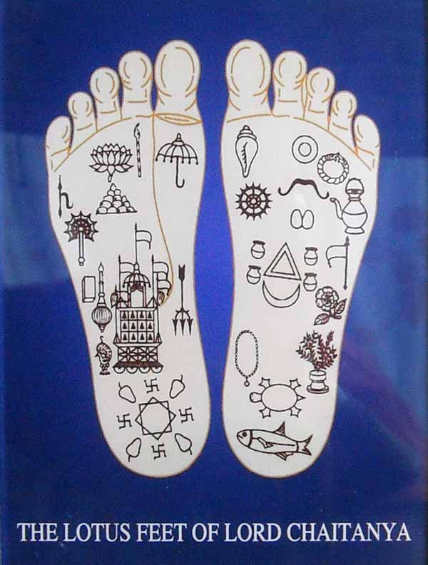 Lotus Feet Of Lord Chaitanya Acrylic Picture