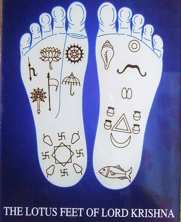 Lotus Feet Of Lord Krishna Acrylic Picture