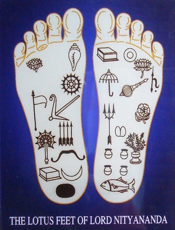 Lotus Feet Of Lord Nityananda Acrylic Picture