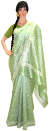 Sea Green Goddess Silver Jari- Pure Silk Saree