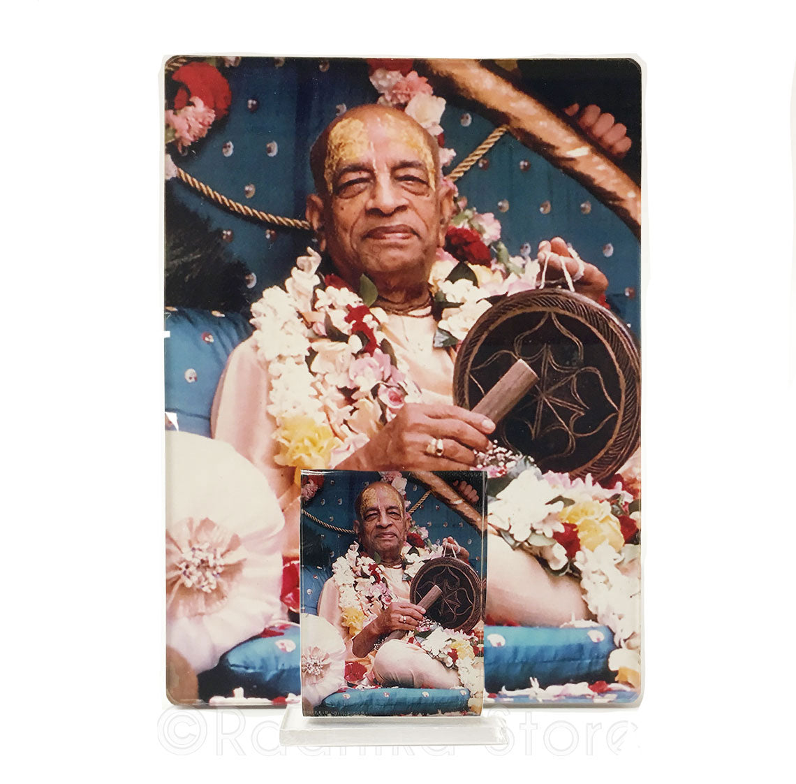 Srila Prabhupada With Gong Acrylic Picture- Choose size