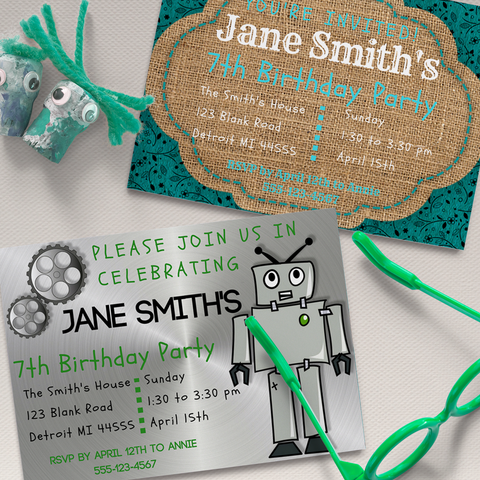 free birthday invitations for boy or girl diy