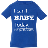 I can't baby today, I've got the cutes jersey infant t-shirt unisex boy blue