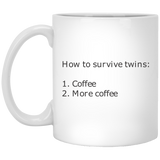 How to survive twins 11 oz. Funny Mug