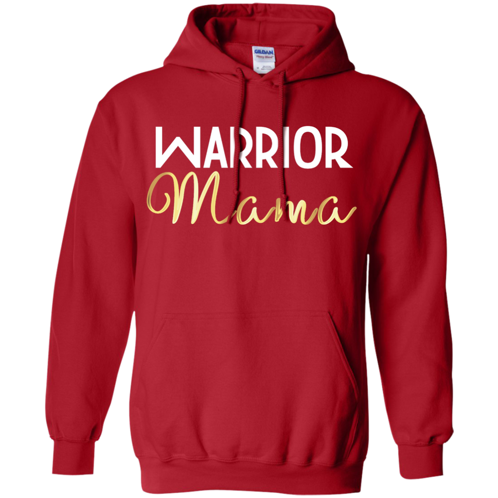 """Warrior Mama"" Pullover Hoodie 8 oz"