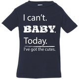 I can't baby today, I've got the cutes jersey cotton funny infant tshirt unisex boy navy blue