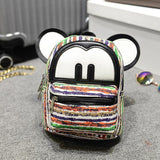 Miniature School Bag Backpack with Cute Mouse Ears