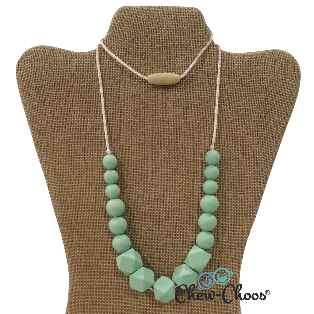 mint to be baby teething necklace primrose by chew choos