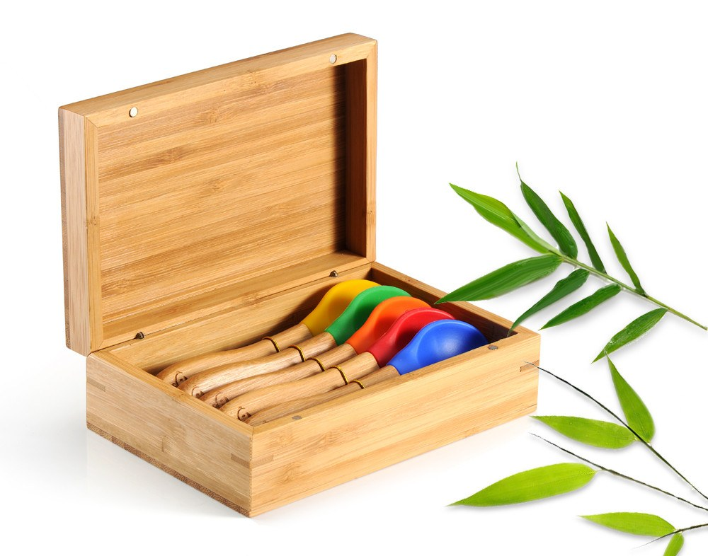 premium baby gifts with organic bamboo baby spoons for baby teething