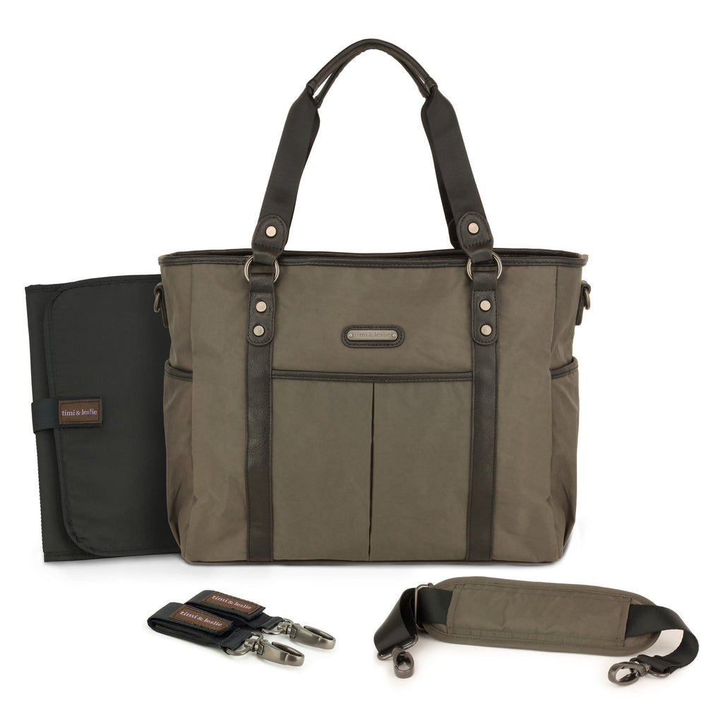 convertable diaper-bag-classic-tote-diaper-bag-soho graphite