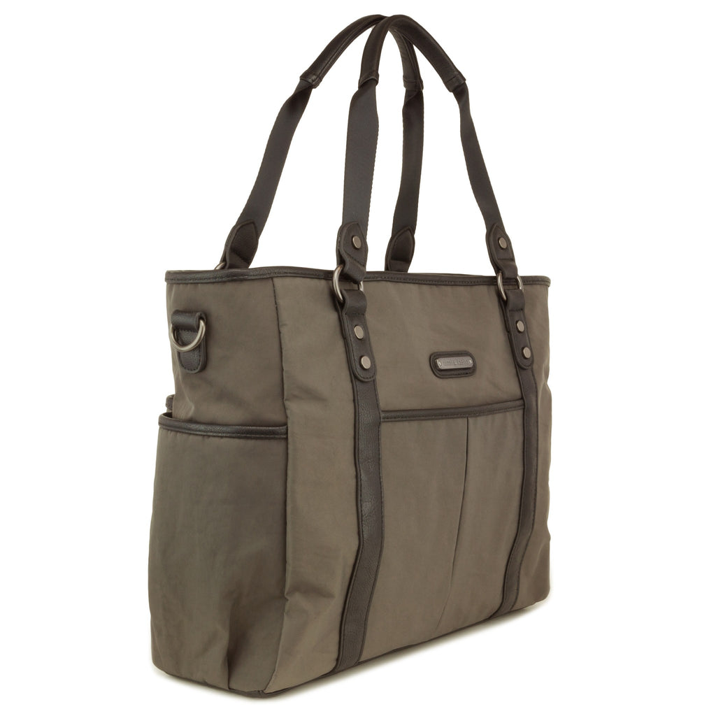 convertible diaper-bag-classic-tote-diaper-bag-soho graphite