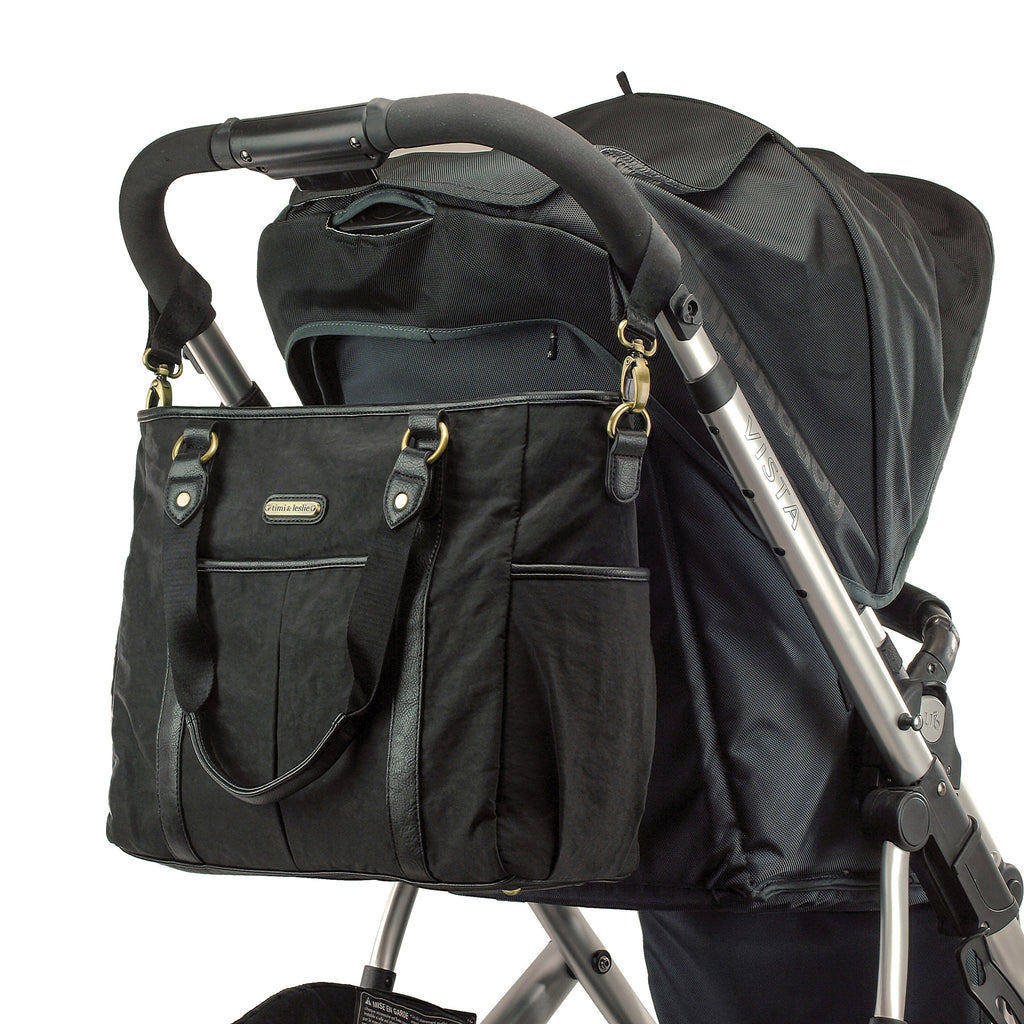 black timi and leslie diaper bag lots of storage and accessories