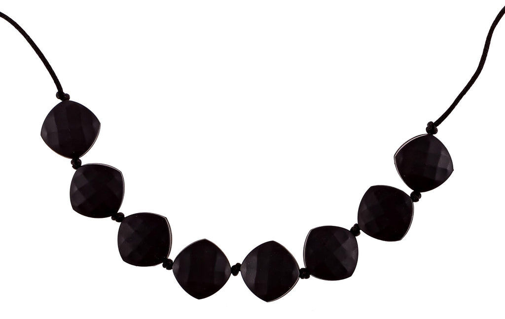 black silicone teething necklace for mom and baby