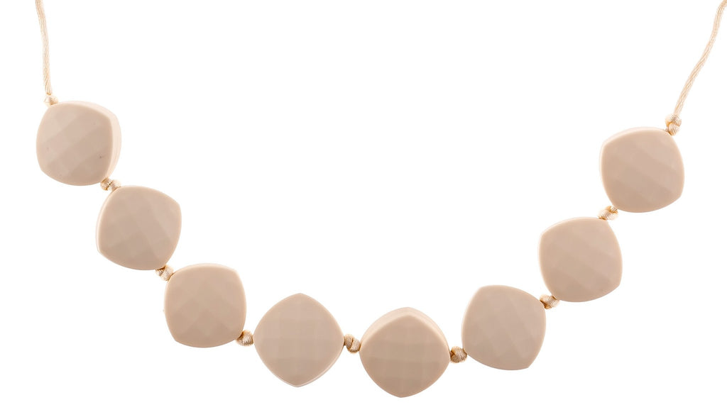 cream navajo white neutral fashion silicone teething necklace