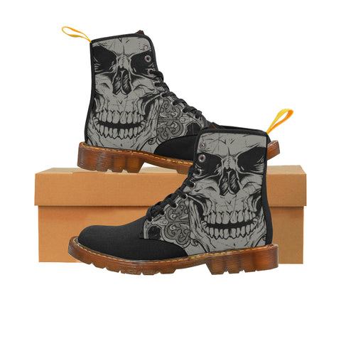 Image of Skull Graveyard Canvas Boots