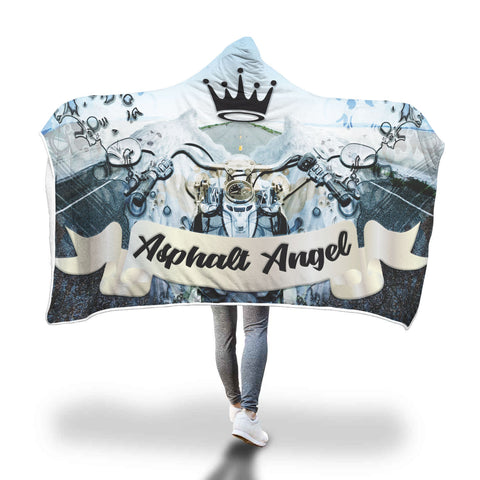 Asphalt Angel Hooded Blankets
