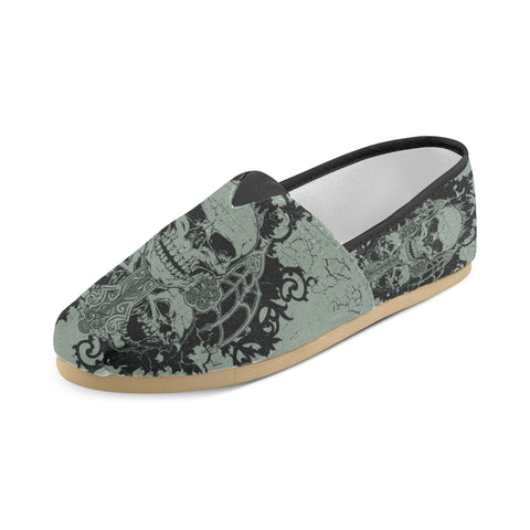 Image of Women's Skull Graveyard Casual Slip On Shoes