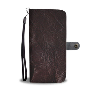 Dark Brown Leather Cell Phone Wallet Case
