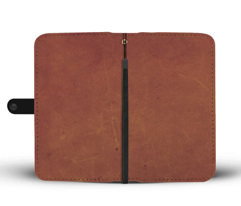 Image of Smooth Brown Leather Cell Phone Wallet Case